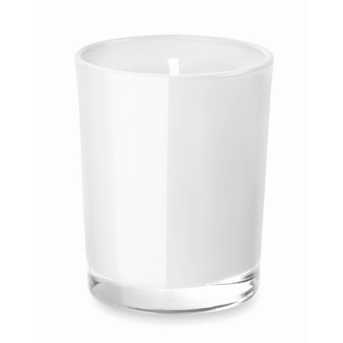 Scented Candle In Glass in white