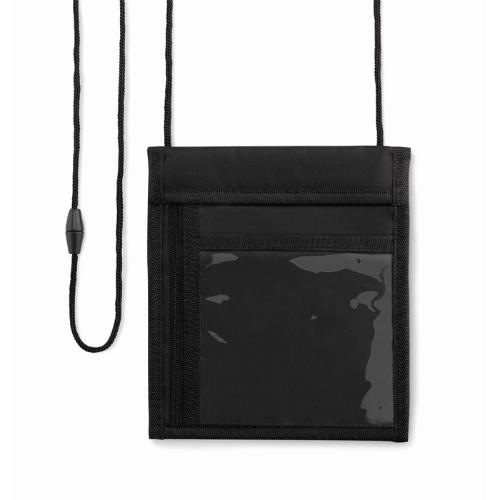 70D nylon wallet                in black