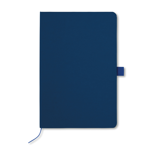 A5 Notebook With Paper Cover in blue
