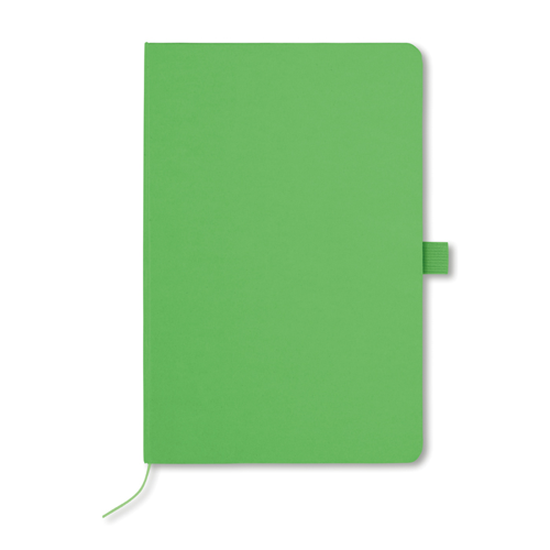 A5 Notebook With Paper Cover in lime