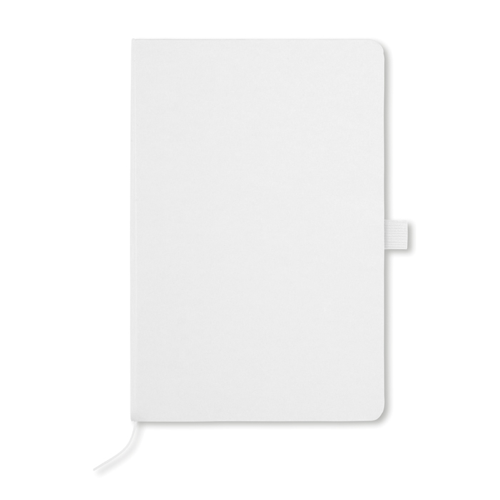 A5 Notebook With Paper Cover in white