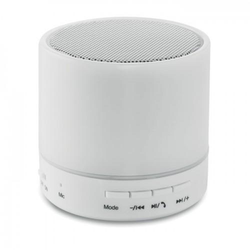 Round Bluetooth Speaker Led in white