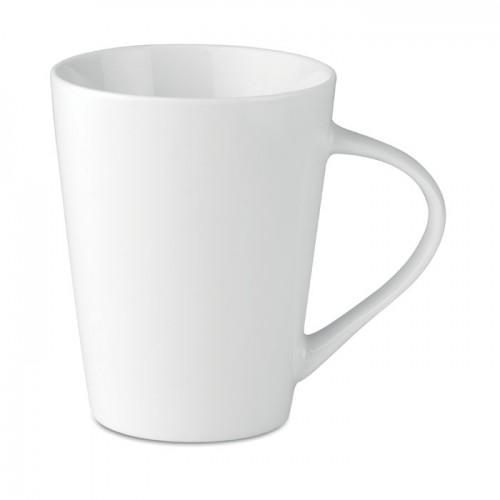 250 ml porcelain conic mug      in white