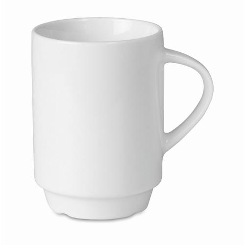 200 ml porcelain mug            in white