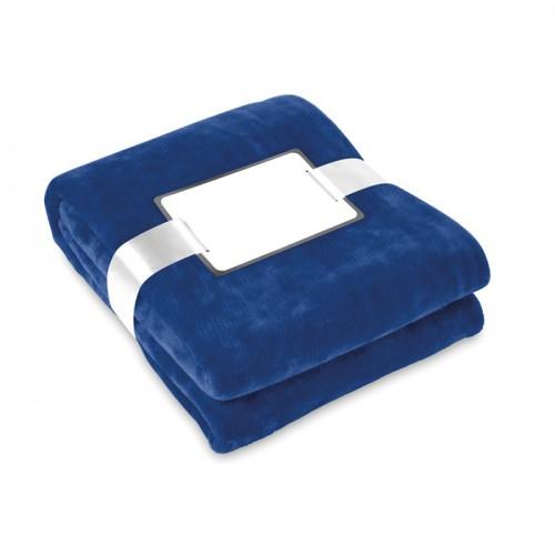 Blanket flannel in blue