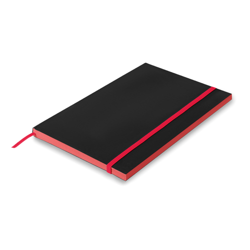 A5 Paper cover notebook lined in red