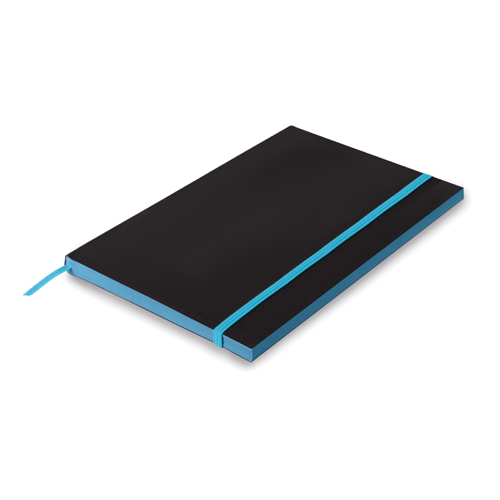 A5 Paper cover notebook lined in turquoise