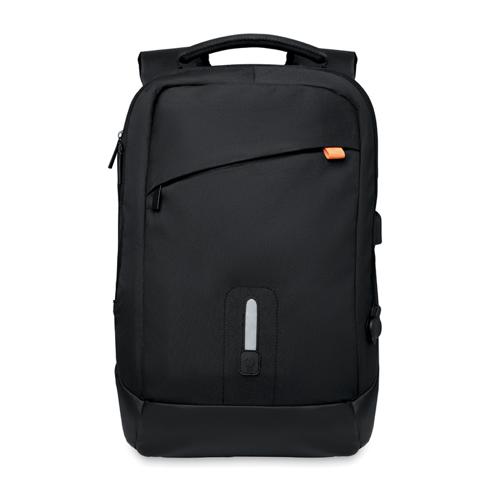 Backpack & power bank in black