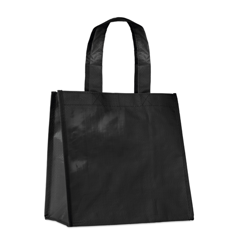 Small Pp Woven Bag in black