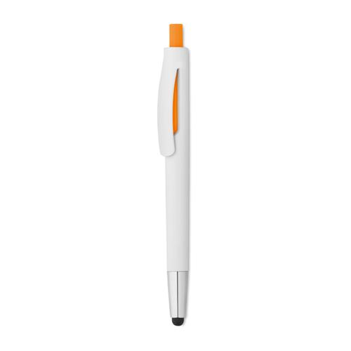 Plastic Stylus Pen in orange