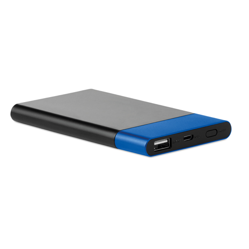 4000  Powerbank With Light in blue