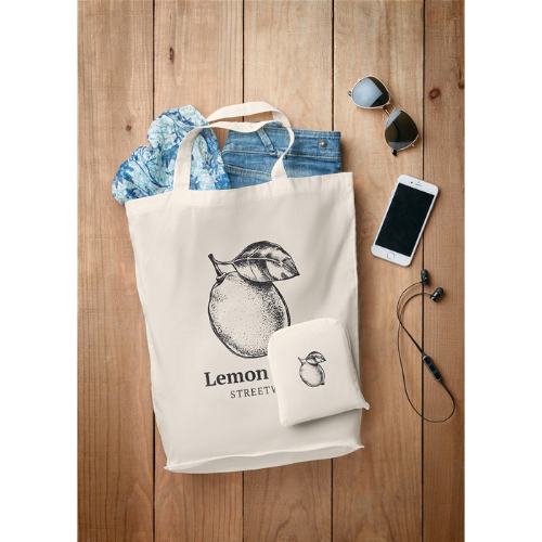 Foldable Cotton Shopping Bag    in
