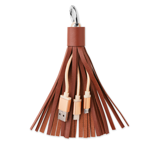 Cable Bag And Key Holder in brown