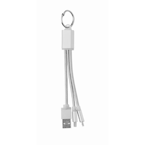 keyring with USB type C cable in silver