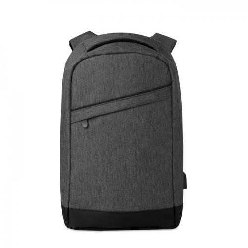 2 tone backpack incl USB plug   in black