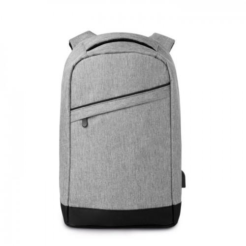 2 tone backpack incl USB plug   in grey