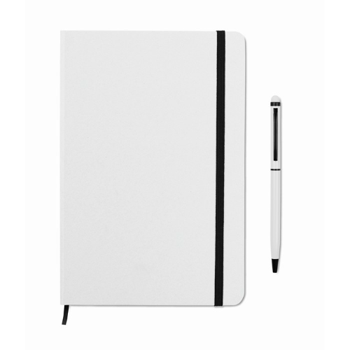 Notebook set in white