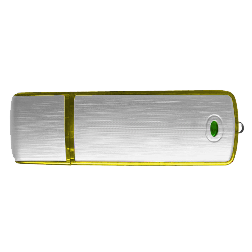 Classic USB Flash Drive in yellow