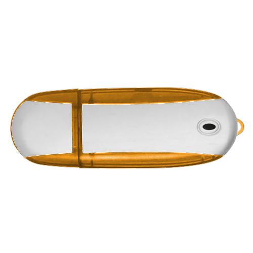 Alu USB Flash Drive in orange