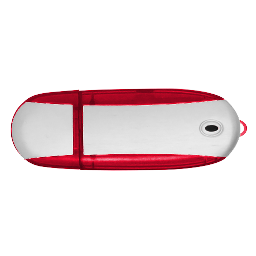 Alu USB Flash Drive in red