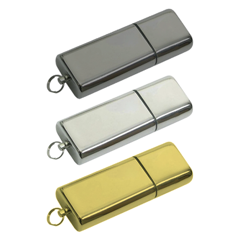 Metal Executive USB Flash Drive in silver