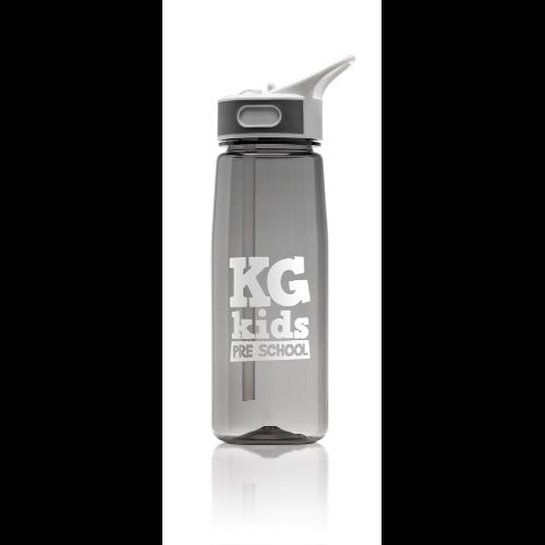 Aqua 800ml water bottle in grey