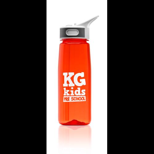 Aqua 800ml water bottle in red