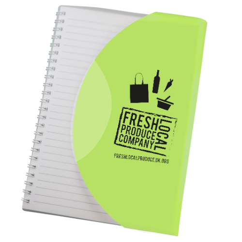 Curve Notebook A5 in lime