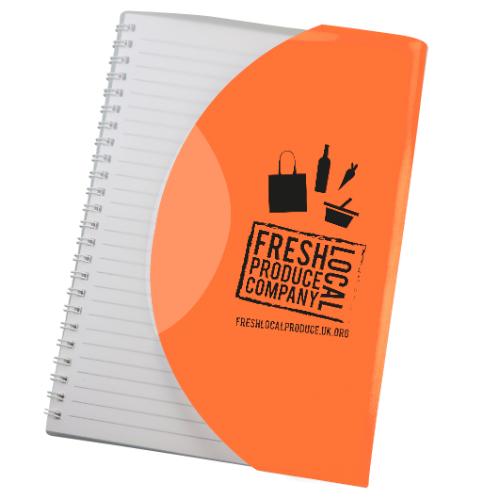 Curve Notebook A5 in orange