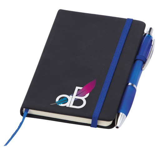 Small Noir Notebook (Curvy) in blue-digital