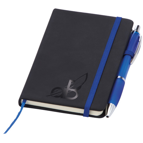 Small Noir Notebook (Curvy) in blue-varnish