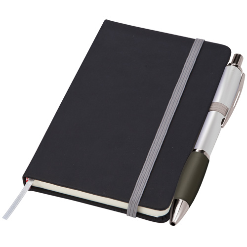 Small Noir Notebook (Curvy) in silver