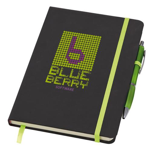 Medium Noir Notebook (Curvy) in lime