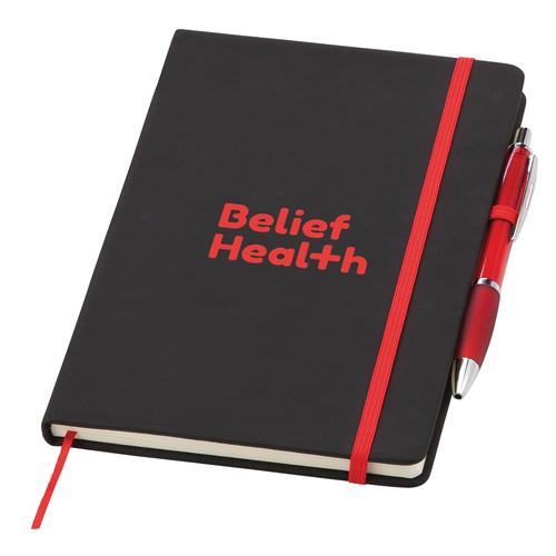 Medium Noir Notebook (Curvy) in red