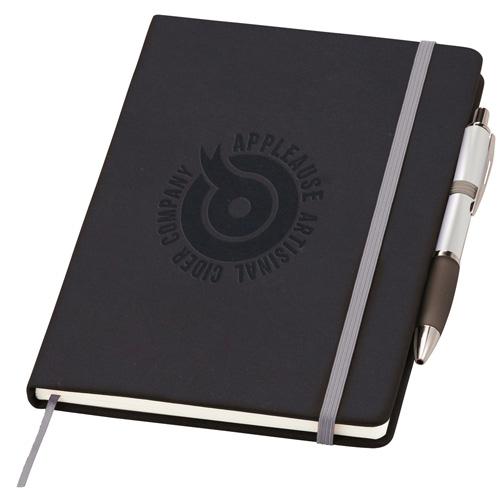 Medium Noir Notebook (Curvy) in silver