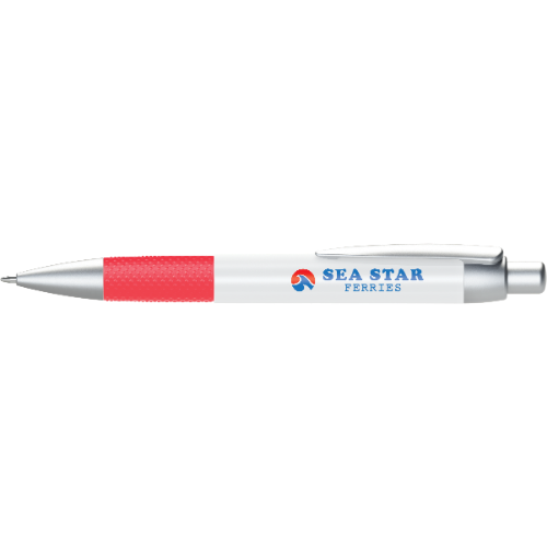 Abacus Grip Ballpen (Full Colour Wrap) in red