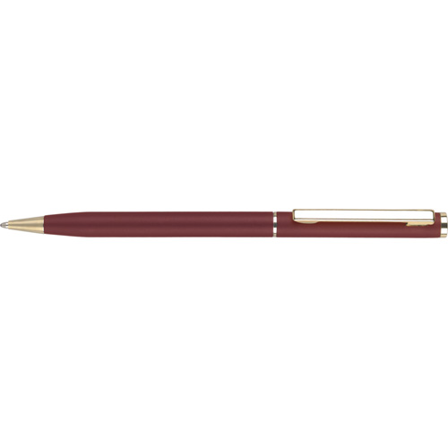 Cheviot Oro Ballpen in burgundy