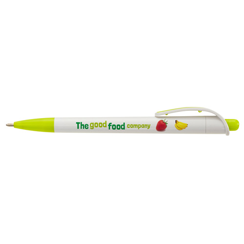 Zing Ballpen in white-and-lime