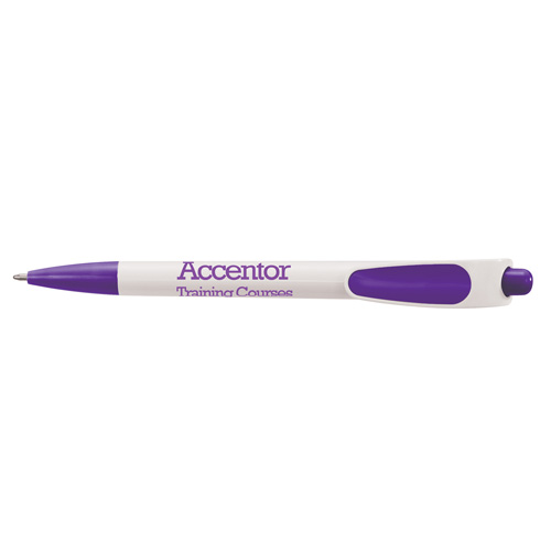Zing Ballpen in white-and-purple