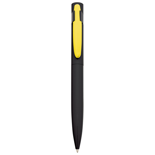 Harlequin Ballpen in black-yellow-clip