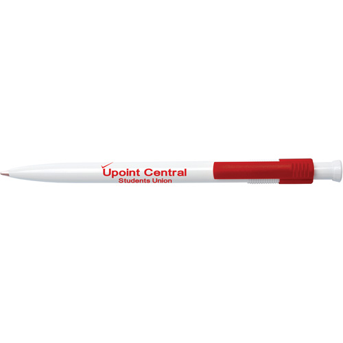 Monza Pen in white-and-red