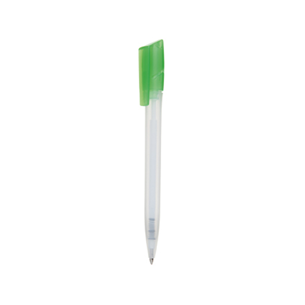 Tornado Pen in frosted-white-and-lime