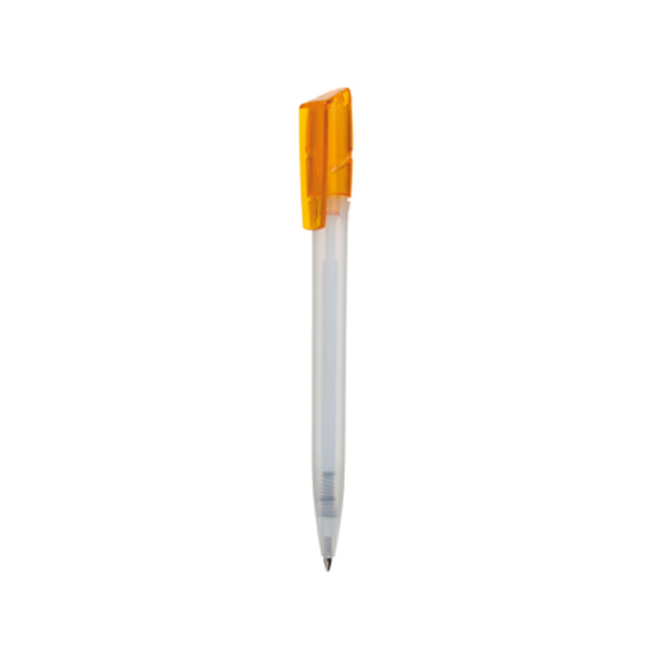 Tornado Pen in frosted-white-and-orange