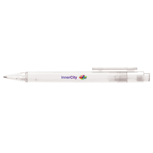 Frosted Calypso Ballpen in clear
