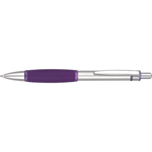 Iris Grip Metal Ballpen (With Box FB01) in purple