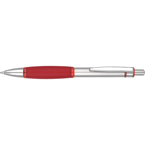 Iris Grip Metal Ballpen (With Box FB01) in red