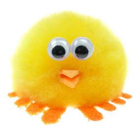 Printed Furry Chick Bug