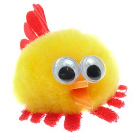 Personalised Fuzzy Cockerel Bug