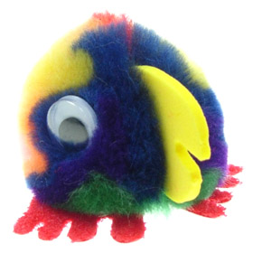 Printed Furry Parrot Bug
