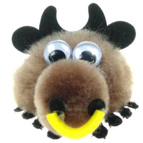 Printed Furry Bull Bug